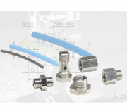 Fittings, tube connectors and plastic tubes