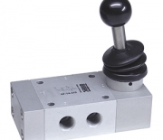Hand lever valves with spring return Series HF