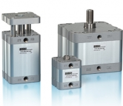 Double acting compact cylinders