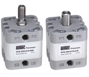 Single acting compact cylinders
