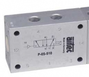 Pneumatically operated valves G1/8 Ports on one side